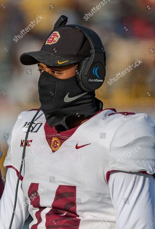 Greensboro, NC, U.S: Bethune Cookman quarterback Terry Gilliam (14) attempts to stays warm on the sideline during 2nd half NCAA Football game action between Bethune Cookman Wildcats and North Carolina A&T Aggies at BB&T Stadium in Greensboro, N.C. Romeo Guzman/Bethune Cookman Athletics