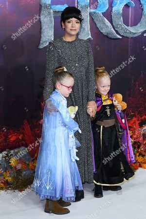 Stock Image of Lily Allen and daughters Marnie Rose Cooper and Ethel Cooper