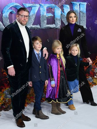 Guy Ritchie, Jacqui Ainsley and children