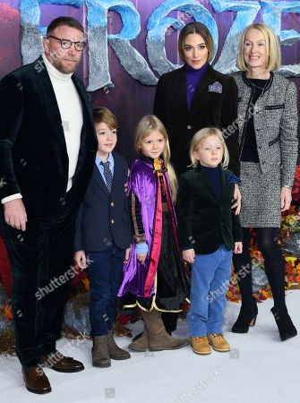 Guy Ritchie, Jacqui Ainsley and family