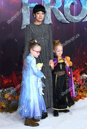Stock Photo of Lily Allen and daughters