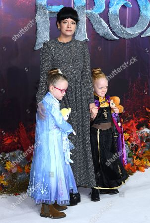 Stock Picture of Lily Allen and daughters