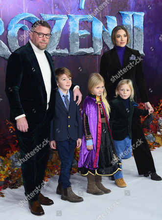 Jacqui Ainsley, Guy Ritchie and family