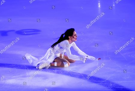 Russia's Evgenia Medvedeva performs during the exhibition gala at the Rostelekom Cup ISU Grand Prix of figure skating event, in Moscow, Russia