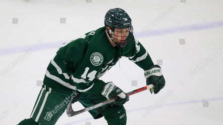 Dartmouth's Matt Baker (14) during an NCAA hockey game against Brown on in Providence, R.I