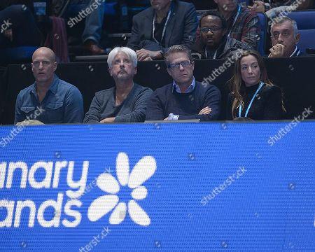 Actors Woody Harrelson and Hugh Grant. Stefanos Tsitsipas (GRE) and Dominic Thiem (AUT) ATP Final.