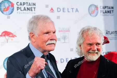 Philanthropist Ted Turner, left, and musician Chuck Leavell gather at Captain Planet Foundation's Annual Benefit Gala at Flourish Atlanta, in Atlanta