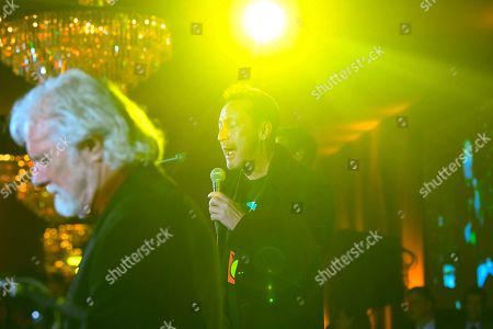 Julian Lennon, right, performs with Chuck Leavell during Captain Planet Foundation's Annual Benefit Gala at Flourish Atlanta, in Atlanta