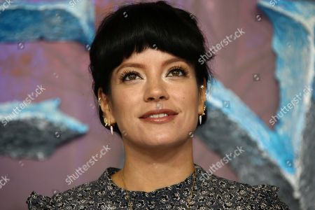 Lily Allen poses for photographers upon arrival at the European premiere of 'Frozen 2', in central London