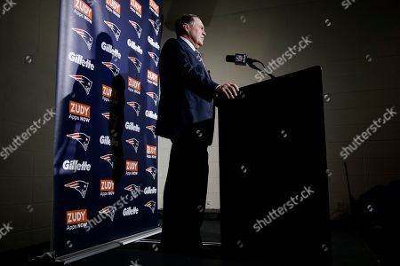 New England Patriots head coach Bill Belichick speaks during a news conference after an NFL football game, in Philadelphia