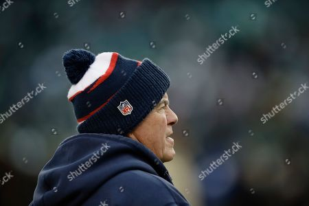 New England Patriots head coach Bill Belichick in action before an NFL football game against the Philadelphia Eagles, in Philadelphia