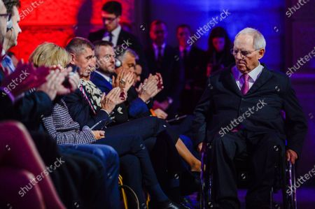 President of the German Bundestag, Wolfgang Schauble during the 30th Anniversary of Velvet Revolution at the National Museum.