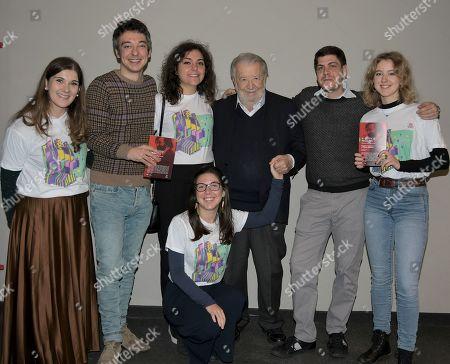 Pupi Avati, Claudio Bartolini, Ruggero Adamovic and BookCity collaborators
