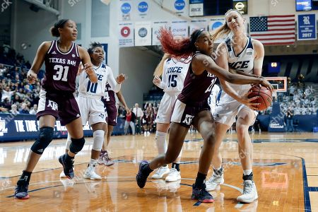 Editorial picture of Texas A M Rice Basketball, Houston, USA - 17 Nov 2019
