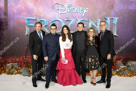 Peter Del Vecho, Josh Gad, Idina Menzel, Jonathan Groff, Jennifer Lee and Chris Buck