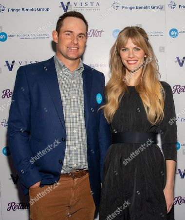 Andy Roddick and Brooklyn Decker attend the red carpet for the annual Andy Roddick Foundation Gala at ACL Live