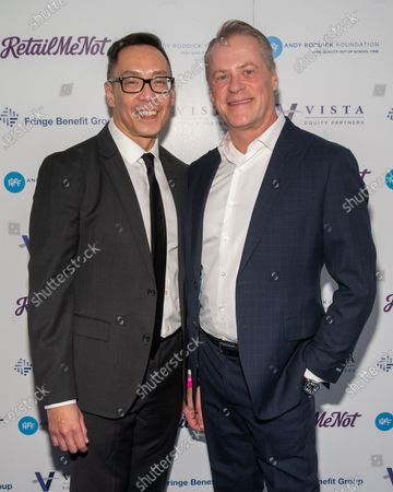 William Van Pelt and Andy Roddick Foundation CEO Richard Tagle attend the red carpet for the annual Andy Roddick Foundation Gala at ACL Live