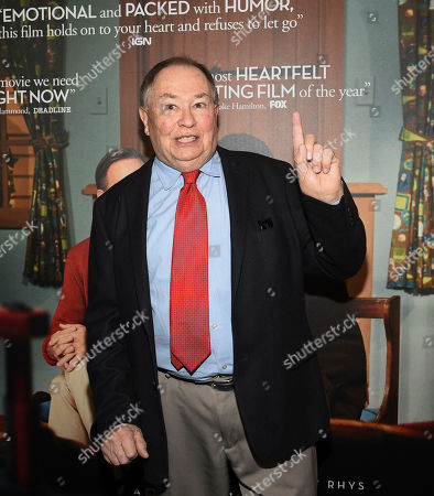 """Actor David Newell, who played Mr. McFeely in the original """"Mister Rogers' Neighborhood,"""" attends a special screening of """"A Beautiful Day In The Neighborhood"""" at the Henry R. Luce Auditorium, in New York"""