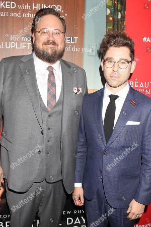 Stock Photo of Noah Harpster and Micah Fizerman-Blue