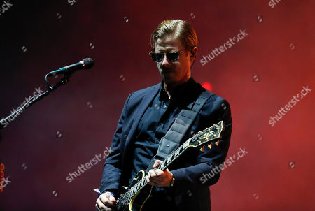 Stock Photo of Paul Banks of American rock band Interpol performs during the Corona Capital music festival in Mexico City