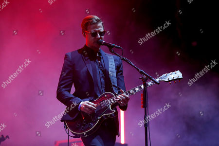 Paul Banks of American rock band Interpol performs during the Corona Capital music festival in Mexico City