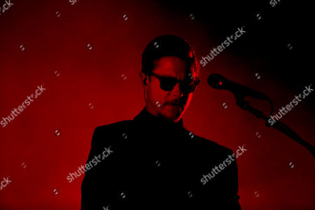 Paul Banks of the American rock band Interpol performs during the Corona Capital music festival in Mexico City