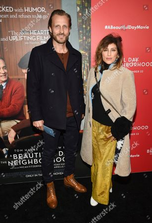 """Stock Picture of Jesper Vesterstroem, Jennifer Esposito. Jesper Vesterstroem, left, and Jennifer Esposito attend a special screening of """"A Beautiful Day In The Neighborhood"""" at the Henry R. Luce Auditorium, in New York"""
