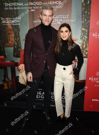 "Stock Image of Ryan Serhant, Emilia Bechrakis. Ryan Serhant, left, and wife Emilia Bechrakis attend a special screening of ""A Beautiful Day In The Neighborhood"" at the Henry R. Luce Auditorium, in New York"
