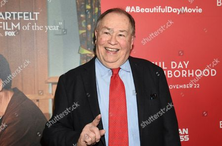 """Actor David Newell, who played Mr. McFeely in the original """"Mister Rogers' Neighborhood"""", attends a special screening of """"A Beautiful Day In The Neighborhood"""" at the Henry R. Luce Auditorium, in New York"""