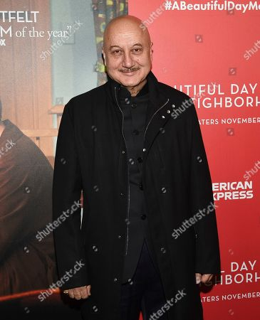 """Anupam Kher attends a special screening of """"A Beautiful Day In The Neighborhood"""" at the Henry R. Luce Auditorium, in New York"""