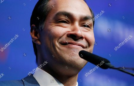 Former Housing and Urban Development Secretary and Democratic presidential candidate Julian Castro speaks during a fundraiser for the Nevada Democratic Party, in Las Vegas