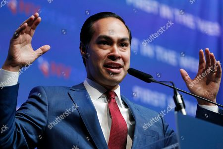 Stock Picture of Former Housing and Urban Development Secretary and Democratic presidential candidate Julian Castro speaks during a fundraiser for the Nevada Democratic Party, in Las Vegas
