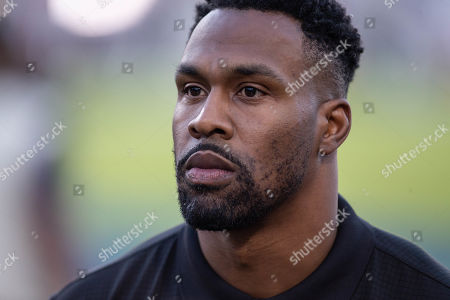 Los Angeles, CA...Los Angeles Rams legend Stephen Jackson before the NFL game between Chicago Bears vs Los Angeles Rams at the Los Angeles Memorial Coliseum in Los Angeles, Ca on November, 2019. Jevone Moore