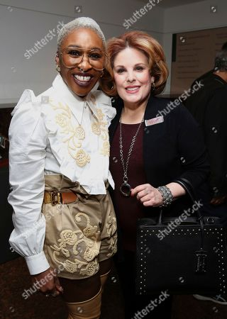 """Stock Picture of Cynthia Erivo, Kat Kramer. Cynthia Erivo and Kat Kramer seen at the """"Harriet"""" Q&A and reception at the Museum of Tolerance, in Los Angeles"""