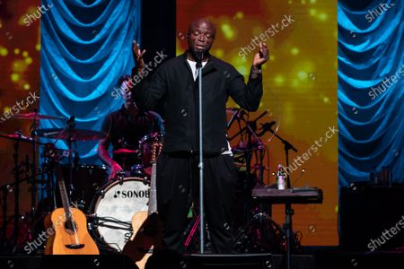 Stock Image of Seal performs during the annual Andy Roddick Foundation Gala at ACL Live