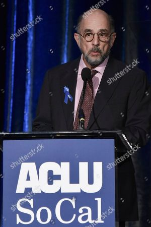 Richard Schiff speaks at the 2019 ACLU SoCal's Annual Bill of Rights Dinner at the Beverly Wilshire Hotel, in Beverly Hills, Calif
