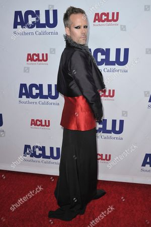 Justin Tranter attends the 2019 ACLU SoCal's Annual Bill of Rights Dinner, in Beverly Hills, Calif