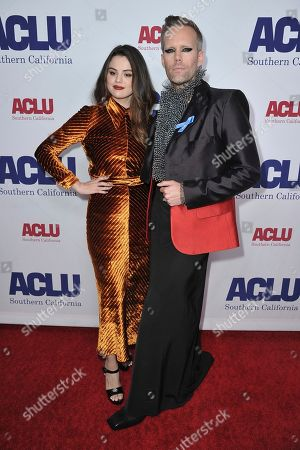 Selena Gomez, Justin Tranter. Selena Gomez, left, and Justin Tranter attend the 2019 ACLU SoCal's Annual Bill of Rights Dinner, in Beverly Hills, Calif