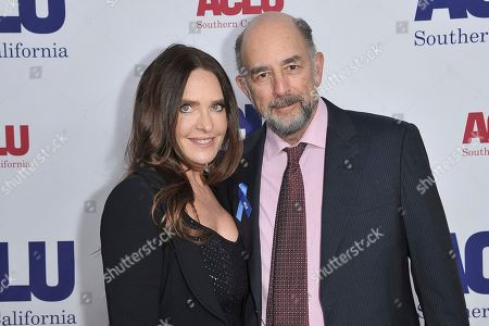 Sheila Kelley, Richard Schiff. Sheila Kelley, left, and Richard Schiff attend the 2019 ACLU SoCal's Annual Bill of Rights Dinner, in Beverly Hills, Calif