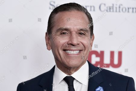 Antonio Villaraigosa attends the 2019 ACLU SoCal's Annual Bill of Rights Dinner, in Beverly Hills, Calif