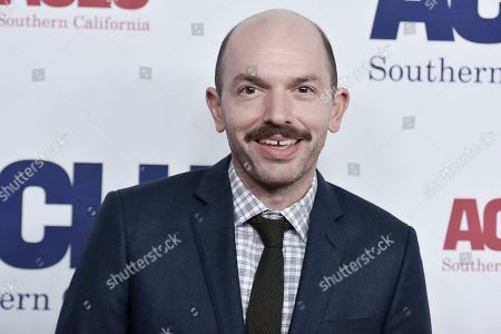 Stock Image of Paul Scheer attends the 2019 ACLU SoCal's Annual Bill of Rights Dinner, in Beverly Hills, Calif