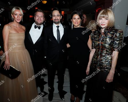 Julia Carey, James Corden, Lin-Manuel Miranda, Vanessa Nadal, Anna Wintour. Julia Carey, James Corden, Lin-Manuel Miranda, Vanessa Nadal and Anna Wintour attend The 2019 American Portrait Gala at Smithsonian's National Portrait Gallery, in Washington