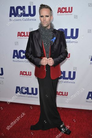 Stock Picture of Justin Tranter attends the 2019 ACLU SoCal's Annual Bill of Rights Dinner, in Beverly Hills, Calif
