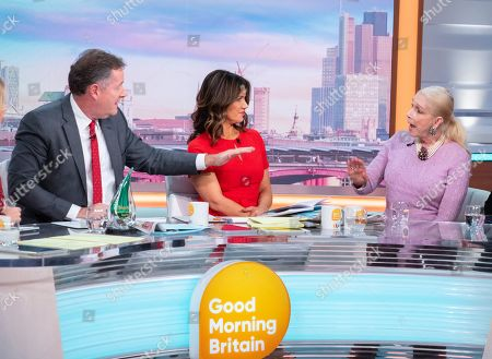 Piers Morgan and Susanna Reid with Lady Colin Campbell