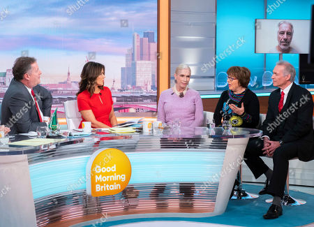 Piers Morgan and Susanna Reid, Lady Colin Campbell, Angela Levin and Dr Hilary Jones