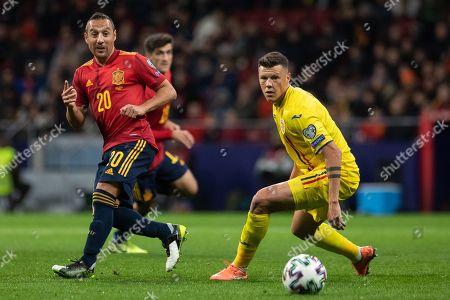 Santi Cazorla of Spain during the UEFA EURO 2020 qualifying football match between Spain and Romania at Wanda Metropolitano Stadium in Madrid, Spain, 18 November  2019.
