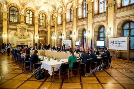 A general view of Conference of Presidents and Speakers of Parliaments of V4 (Visegrad Group) countries on the occasion of the 30th anniversary of the Velvet Revolution in Prague, 18 November 2019. The Czech Republic celebrates the 30th anniversary of the Velvet Revolution commemorating the events of 17 November 1989, when after the brutal suppression of a student demonstration at Narodni street, the communist leadership soon crumbled and the playwright and human rights activist Vaclav Havel became president shortly thereafter.