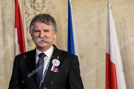 Editorial image of Conference of Presidents and Speakers of Parliaments of V4 on the occasion of the 30th anniversary of the Velvet Revolution, Prague, Czech Republic - 18 Nov 2019