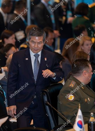 Stock Image of South Korea defense Min. Jeong Kyeong-doo attends Association of Southeast Asian Nations, ASEAN, defense ministers and dialogue nations meeting, Bangkok, Thailand