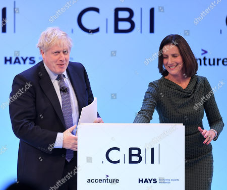 Boris Johnson and Carolyn Fairbairn, Director-General of the CBI